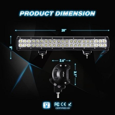Nilight LED Fog Light Bar Dimension
